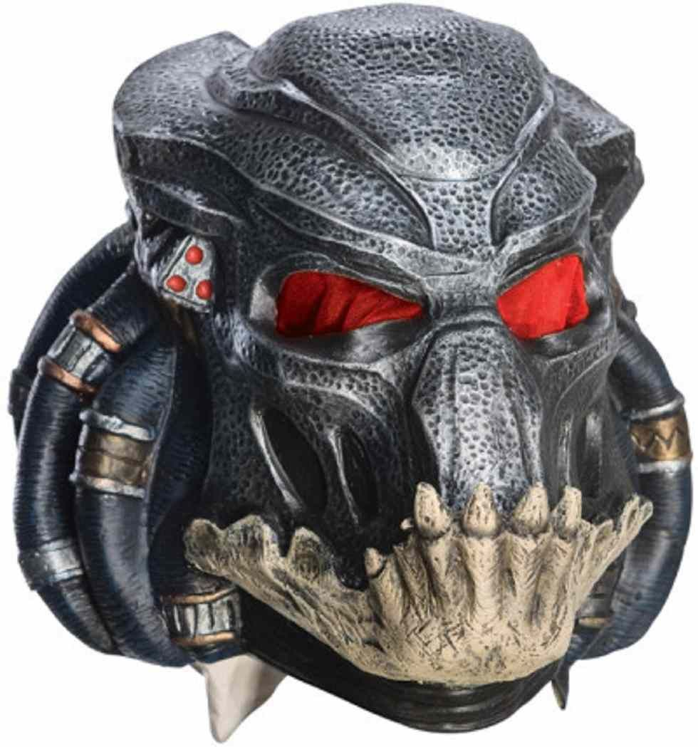 Details about Berserker Black Predator Mask Alien Fancy Dress ...