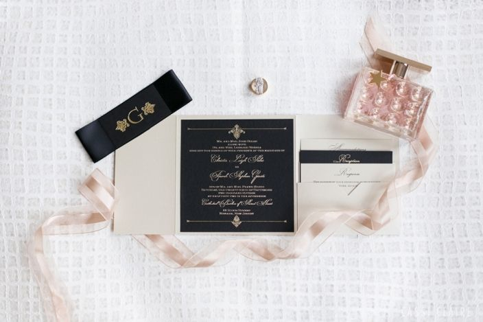 Black Gold Wedding Invitations By Paper Princess Melissa Photo Cassiclaire