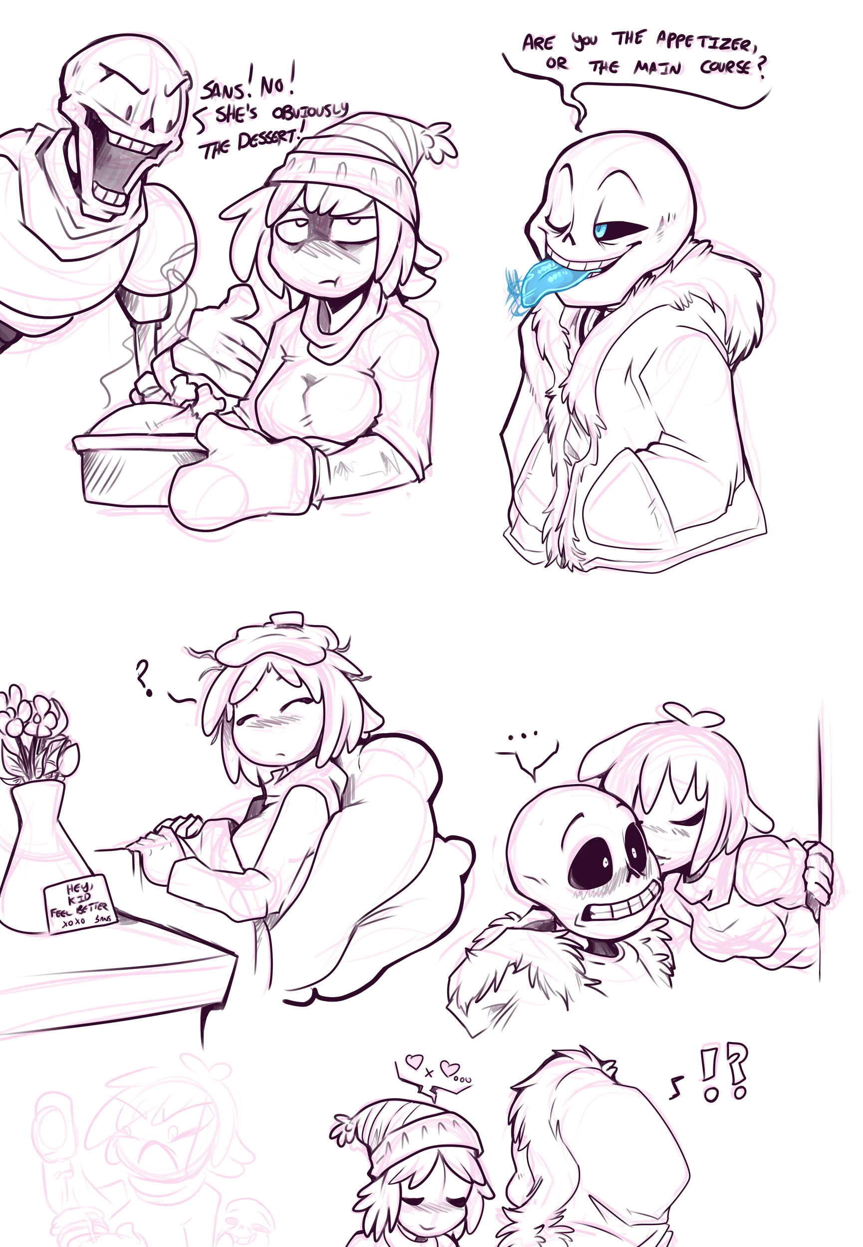 sexy porn and frisk Sans