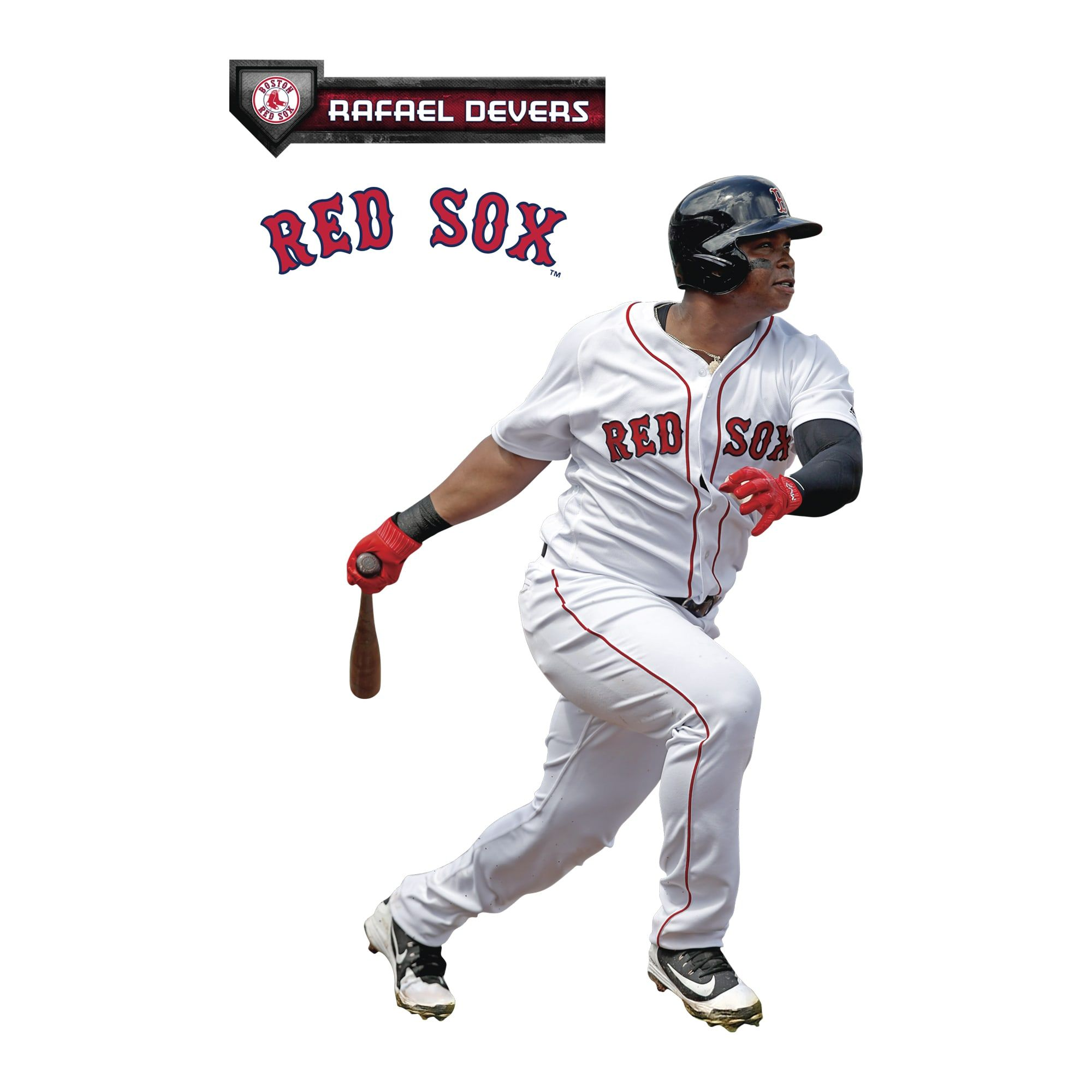 Rafael Devers X Large Officially Licensed Mlb Removable Wall Decal Removable Wall Decals Removable Wall Wall Decals