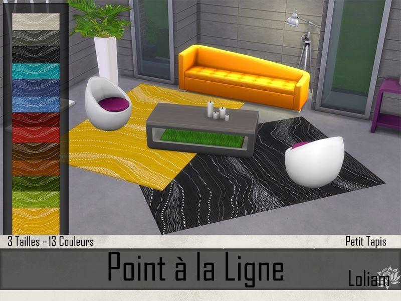 01 petits tapis jaune et noir s4 t l chargements sims. Black Bedroom Furniture Sets. Home Design Ideas