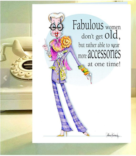 Iris Apfel Funny Woman Humor Card