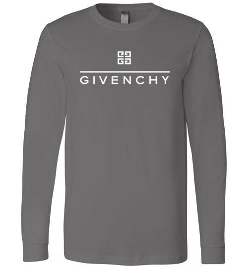 3e2ae71a3ea Givenchy Logo Long Sleeve T-Shirt - Gucci Collection Premium Shirts! Calvin  The Bear Gucci   Mike The Bear Gucci