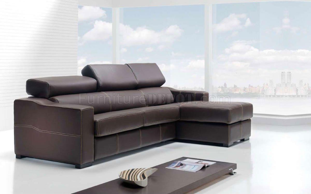 Modern leather sleeper sofa sectional mlr pinterest