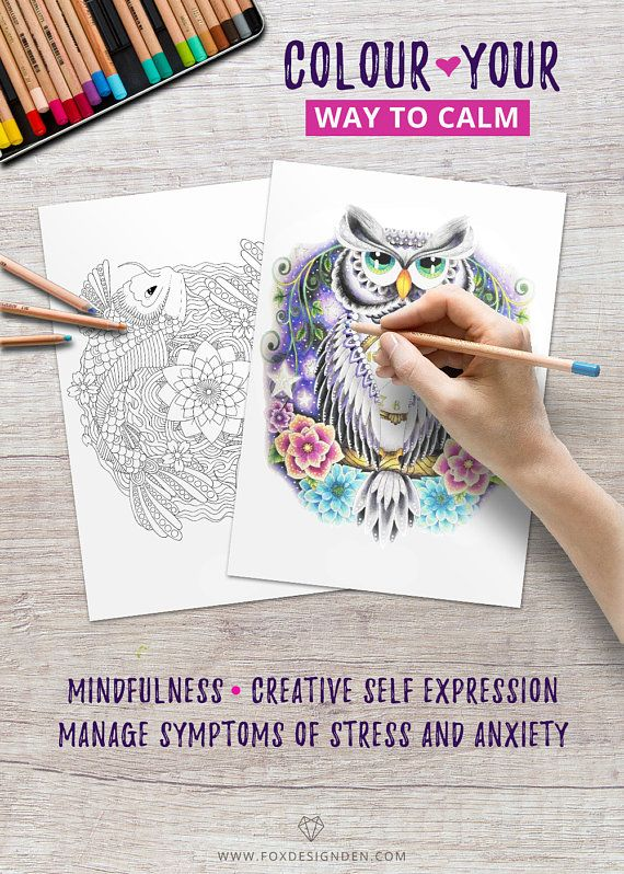 Printable Adult Coloring Pages Book Pdf Digital Books Download Mindfulness Gift For Mum