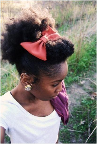 bow natural hair