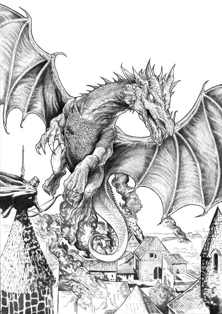 smaugh bwnachocastro on deviantart  dragon coloring