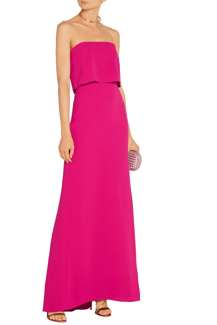 Shop on-sale Halston Heritage Strapless stretch-crepe gown. Browse ...
