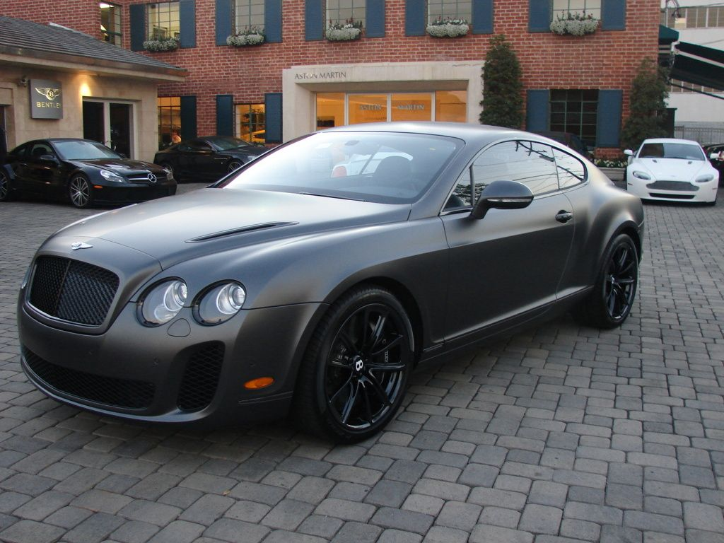 For sale dark grey satin matte supersports at bentley beverly hills