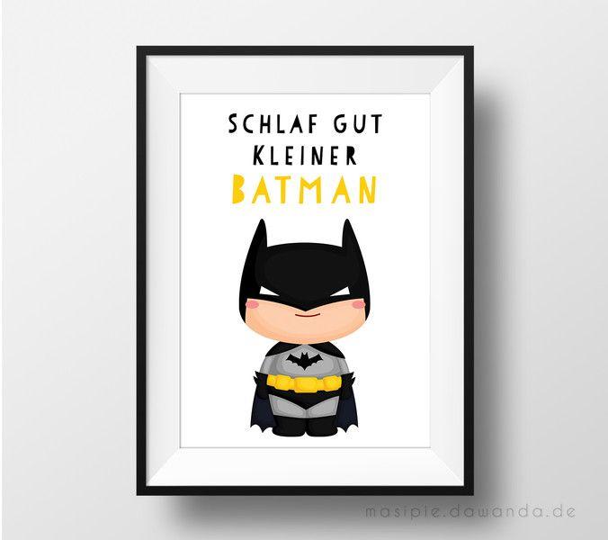 Bilder Kinderzimmer Bild ★ Schlaf gut kleiner Batman