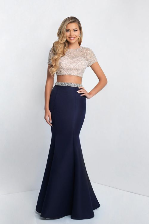 Blush - C1007 Two Piece Bedazzled Mermaid Gown   Beautiful Gowns ...