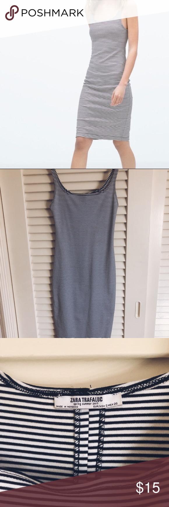 Zara Trafaluc Striped Bodycon Dress Dark Blue And White Striped Bodycon Fits True To Size Worn Once Great Condi Striped Bodycon Dress Bodycon Dress Trafaluc [ 1740 x 580 Pixel ]