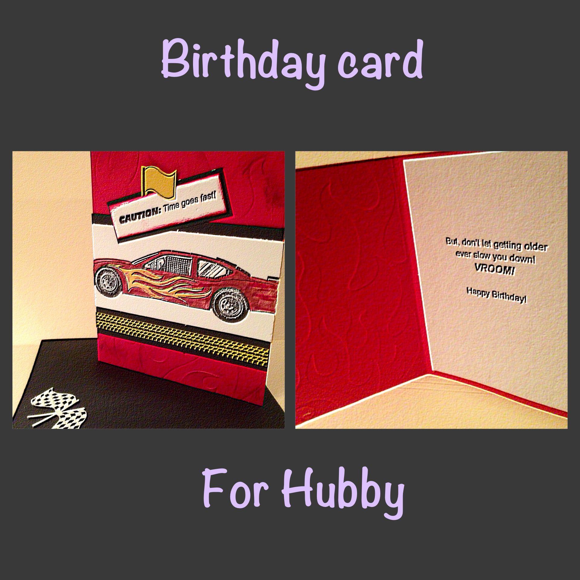 Birthday card for the race car fan birthday cards cards
