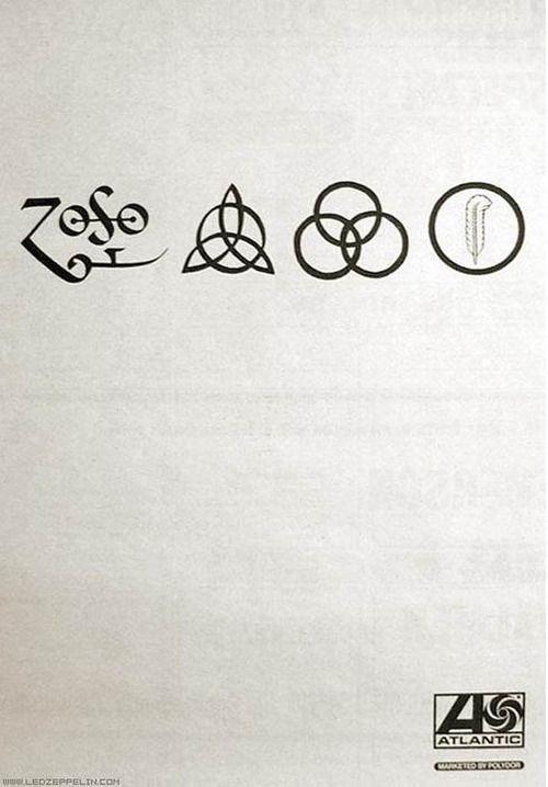 Four Symbols Ad For Led Zeppelin Iv November 1971 Interesting