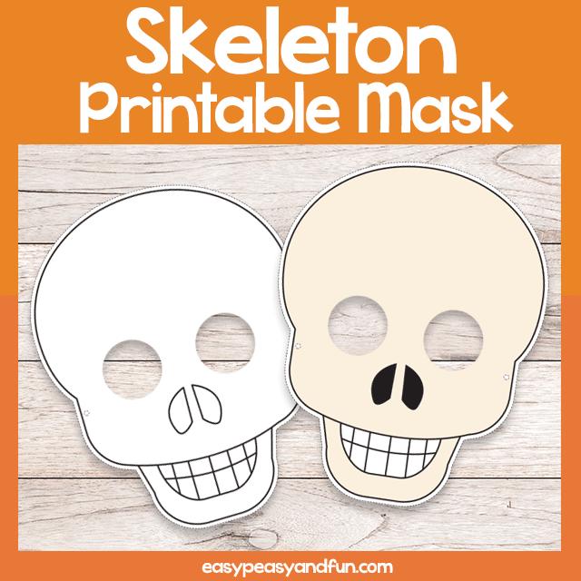 Printable Skeleton Mask Template Monster Coloring Pages Coloring Pages Halloween Coloring Pages