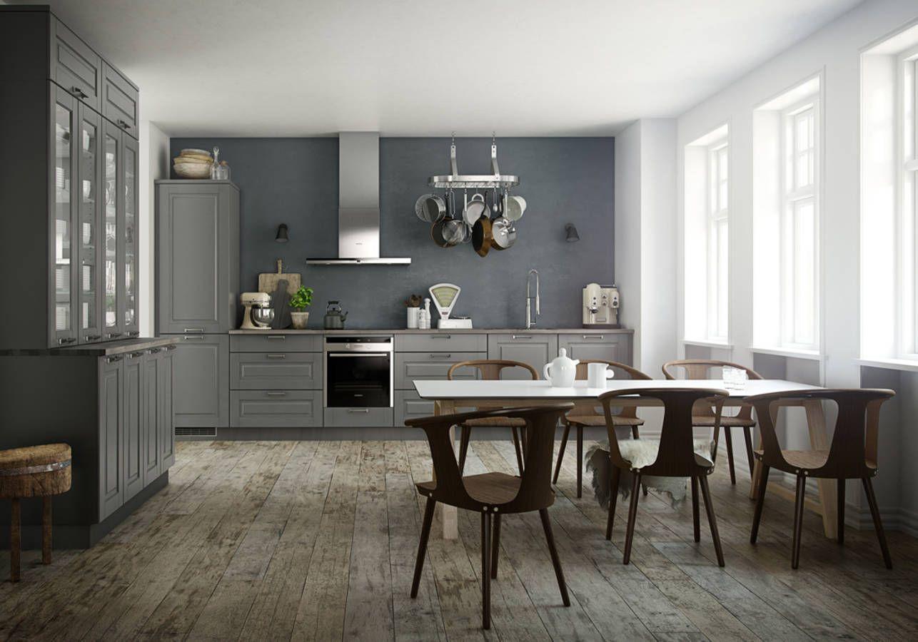 Une cuisine campagne et ses assises contemporaines | Déco ...