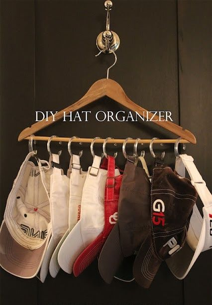 Diy Hat Organizer Gonna Have To Share This With My Dad Hat
