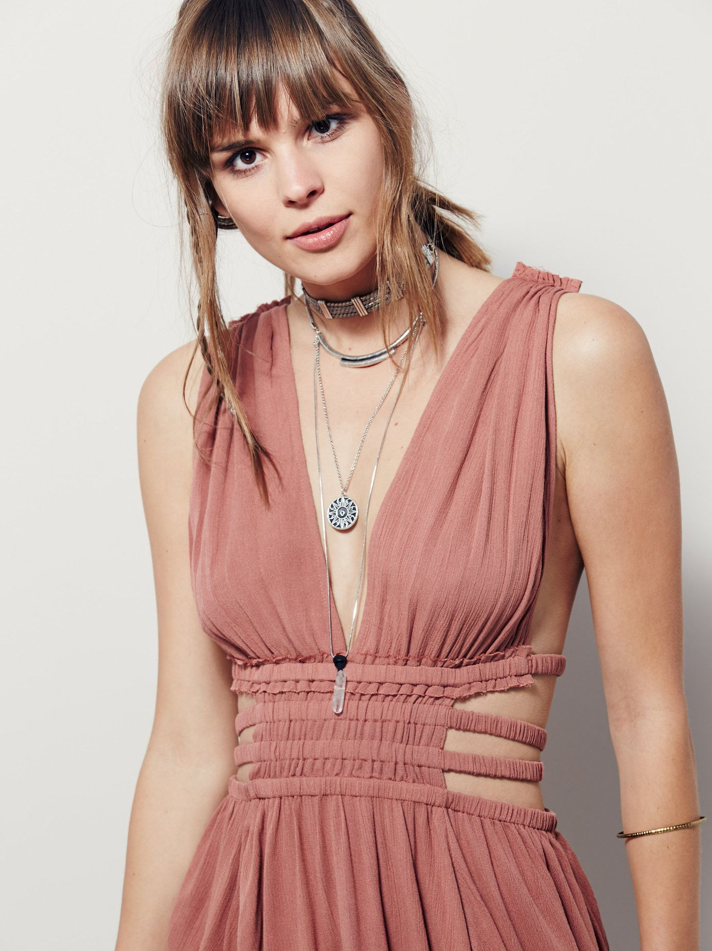 Sexy boho pleated backless mini dress