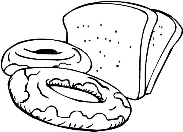 Slices Of Bread And Sweets Coloring Pages Best Place To Color Coloring Pages Coloring Pictures Online Coloring