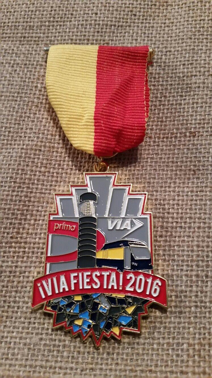 2016 Via Bus Medal Via bus, Medals, Enamel pins