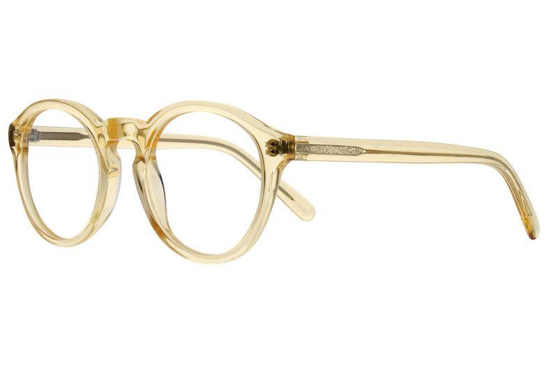 ab1f053cc7 Yellow Round Acetate Eyeglasses  100422