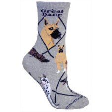 Great Dane Socks In Grey Uk Size 3 5 To 6 5 Dog Gifts Dog