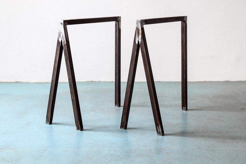 Design Tischbocke 2er Set Tischgestell Tischbeine Von Upcycle