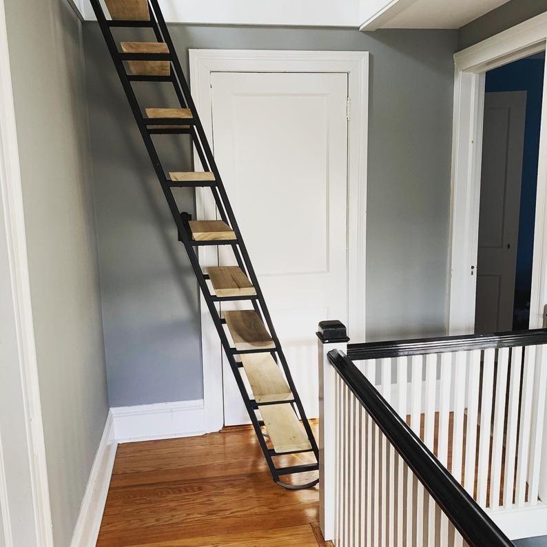 folding attic ladder home depot