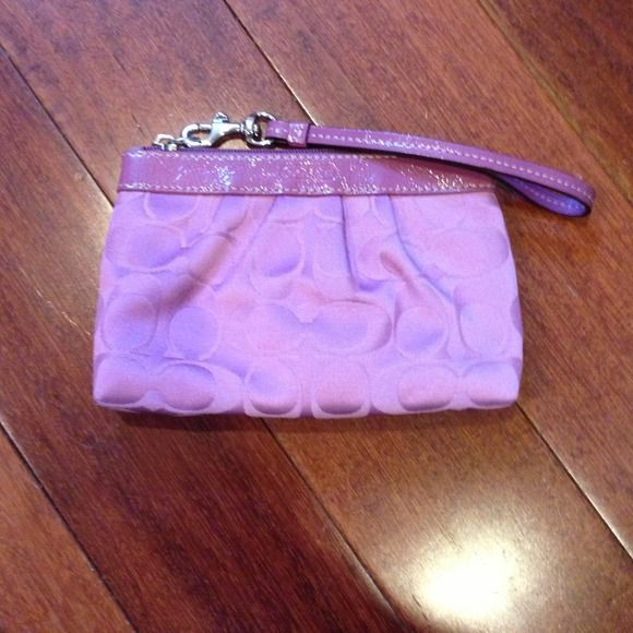 Pink coach wristlet awesome clutch just don't ever use it! Coach Bags Clutches & Wristlets
