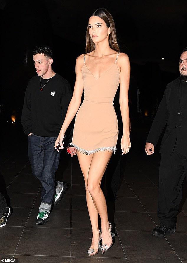 Kendall Jenner drops jaws in skimpy nude mini dress