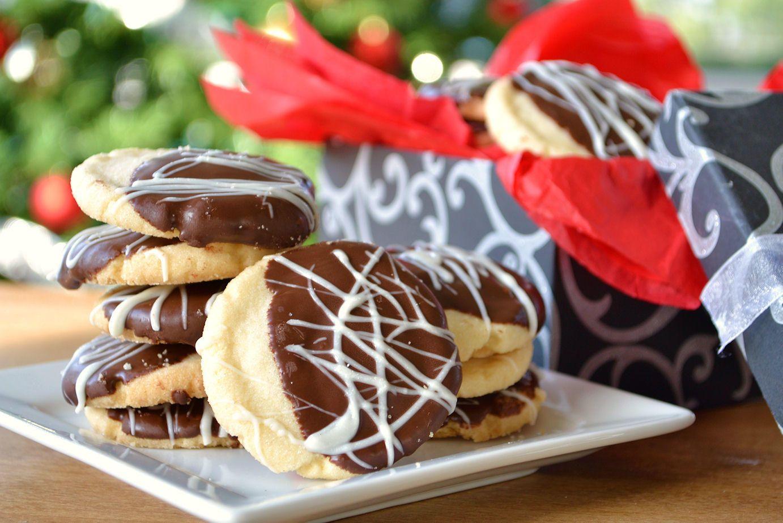 Chocolate Dipped Shortbread Cookies   Recipe   Shortbread cookies ...