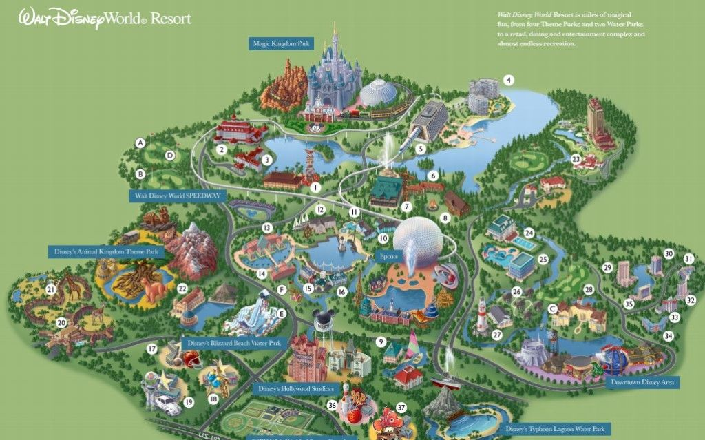 Disney World Resort Map to help you plan your Magical Vacation ...
