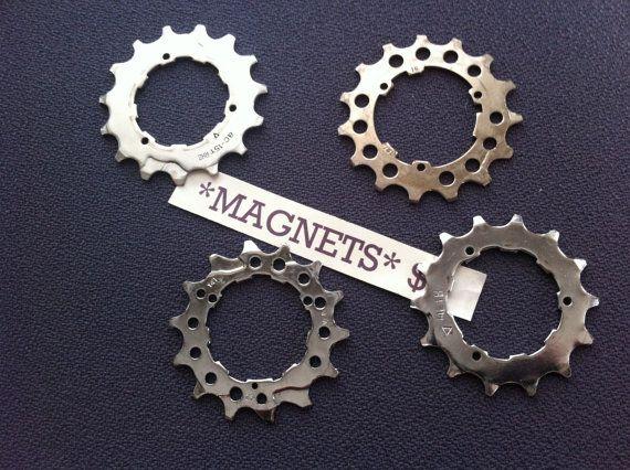 BIKE GEAR  magnet set by ReGEARED on Etsy, $22.00