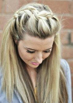 A Cute Comfy Loose French Braid On Top Of The Head Don T Mind If I Do Hair Beauty Hair Styles Hair Inspiration