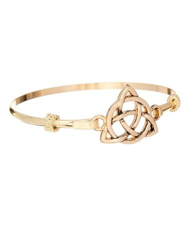 Loving this Goldtone Trinity Knot Bangle on #zulily! #zulilyfinds