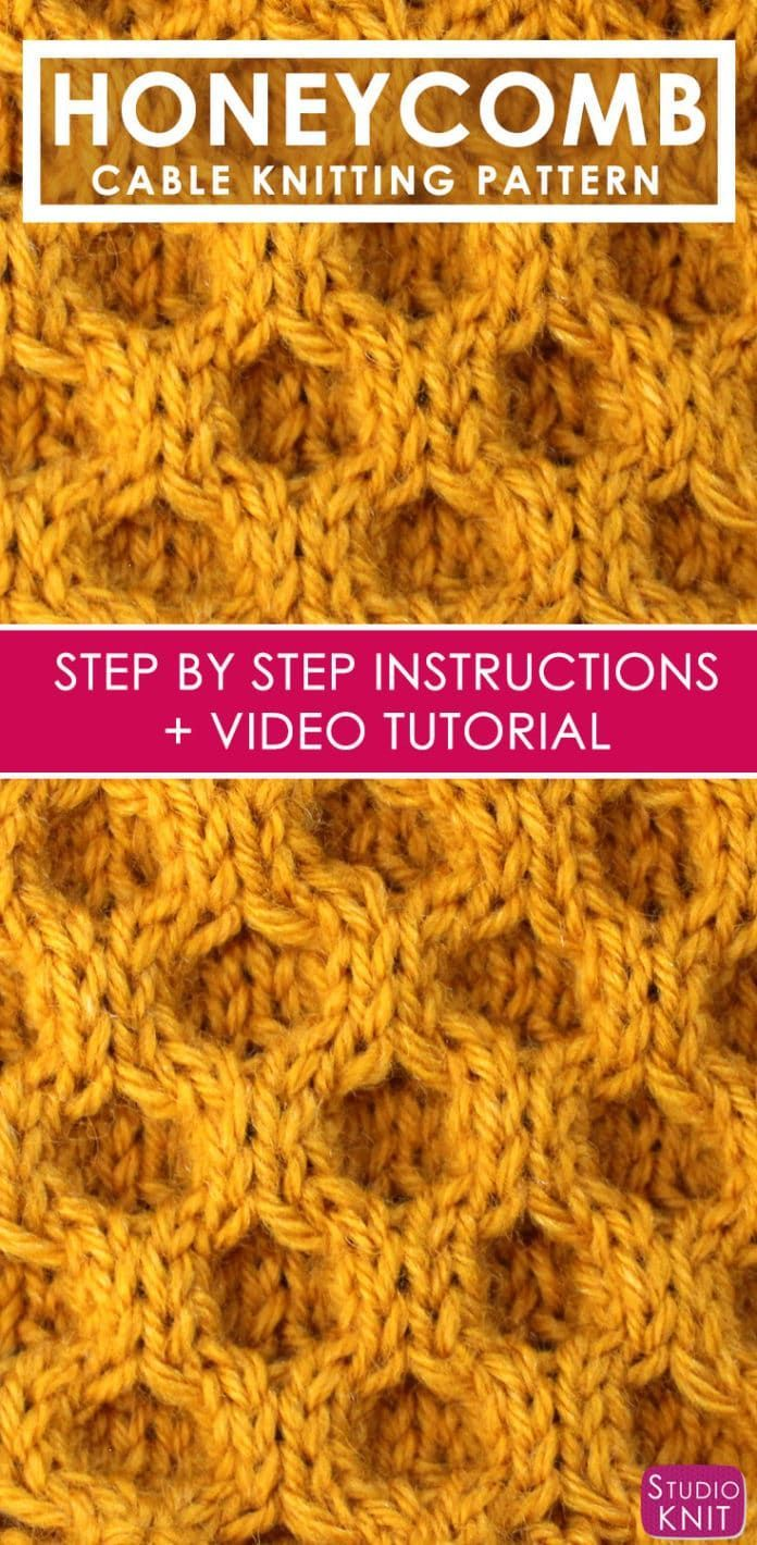 How to Knit the Honeycomb Cable Stitch by Studio Knit. in ...