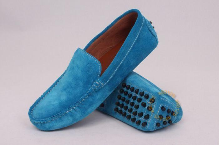7825a14c1d944 Mocassins Tods femme ordinaire en daim bleu saphir Portable