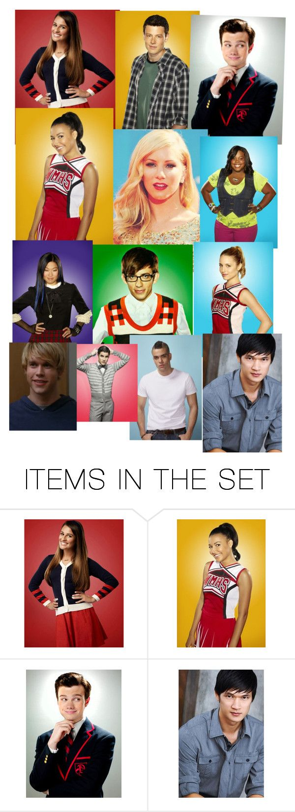 """Glee kids the coolest kids in Ohio"" by halemaddi ❤ liked on Polyvore featuring art"