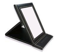 2014 Estilo de plegado belleza espejo de maquillaje portátil conforman mujeres espejo marca escritorio de chocolate bolsillo luz del envío libre