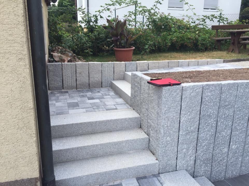 Granitblockstufen Gerhard Steiner Gmbh Granit Blockstufen Betonblock Garten Granit