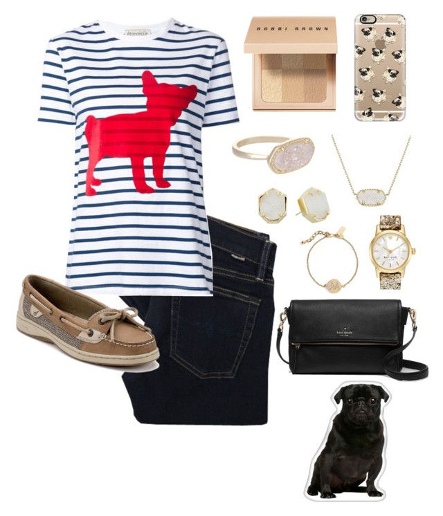 """pug appreciation outfit😍"" by morganmestan ❤ liked on Polyvore featuring Polo Ralph Lauren, Être Cécile, Sperry, Bobbi Brown Cosmetics, Kendra Scott, Casetify and Kate Spade"