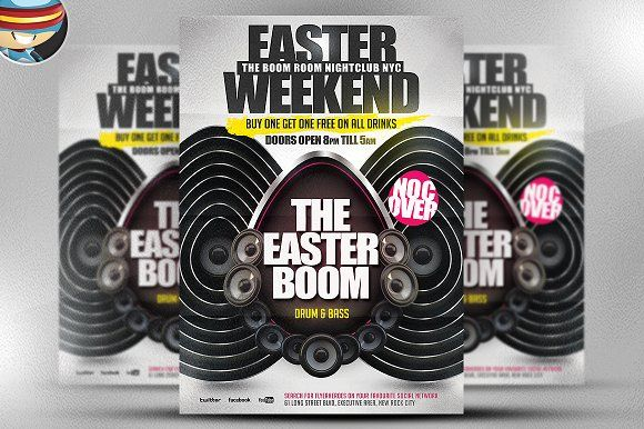 Easter Boom PSD Flyer Template by FlyerHeroes on @creativemarket
