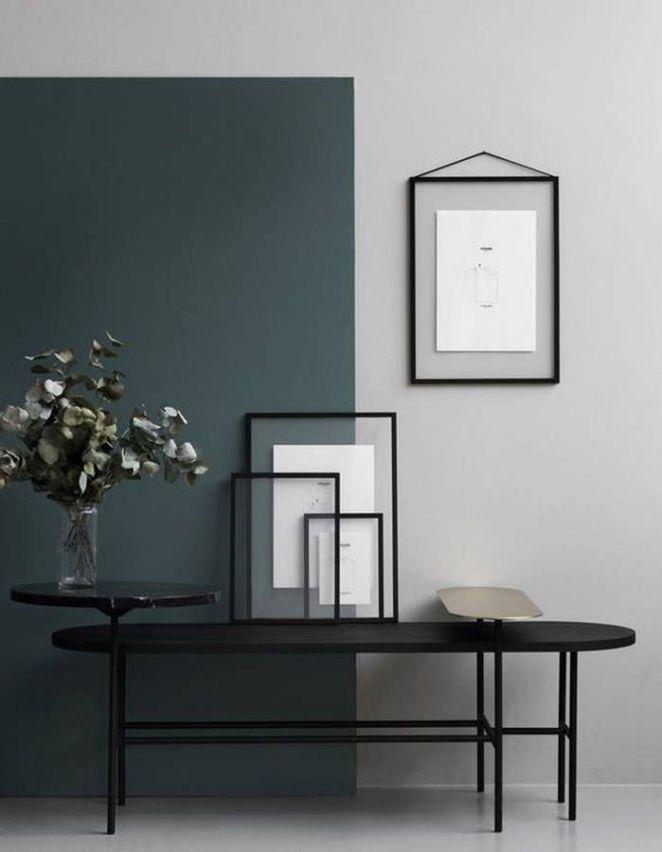 Déco Salon Un jeu de lignes entre peinture déco et mobilier