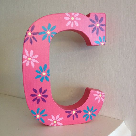 """5"""" Free Standing Hand Painted Letters - Custom  on Etsy, $12.00"""