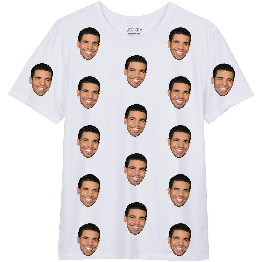 Drake Face White T shirt