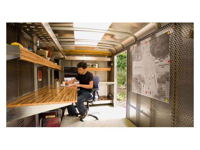 Wells Cargo Trailer - Mobile Solar Powered Office