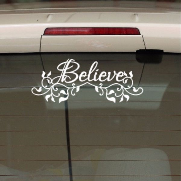 Believe With Vines Christian Vinyl Car Decal Car Decal - How to make vinyl car decals with cricut
