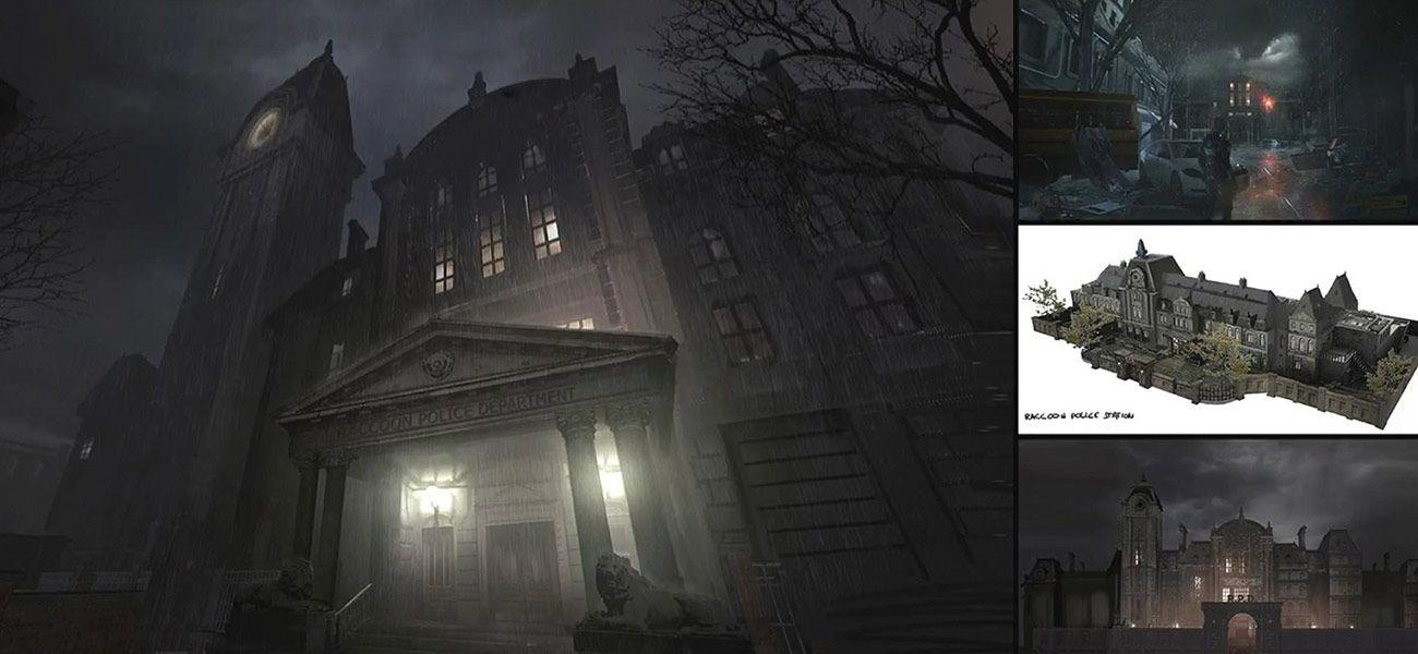 Raccoon Police Department Concept Art Resident Evil 2 2019 Art Gallery V 2020 G Fentezi