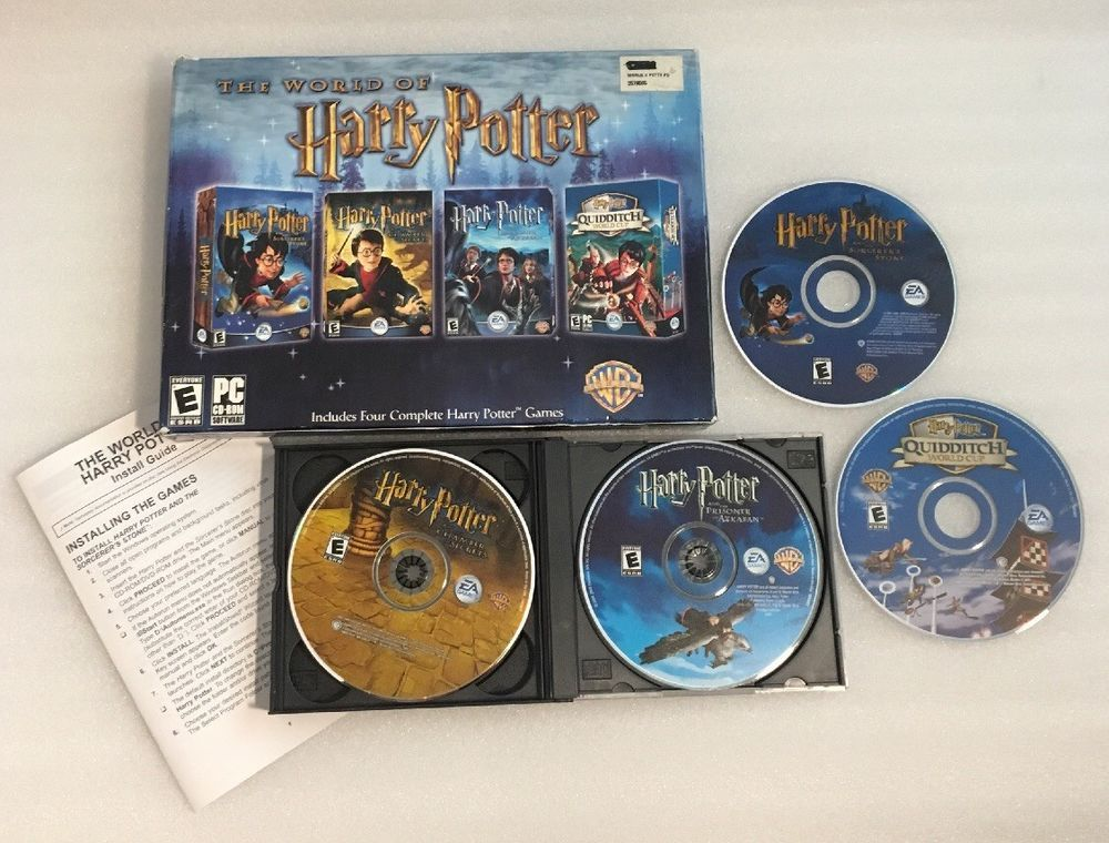 The World Of Harry Potter Ea Games 4 Complete Pc Games Set With