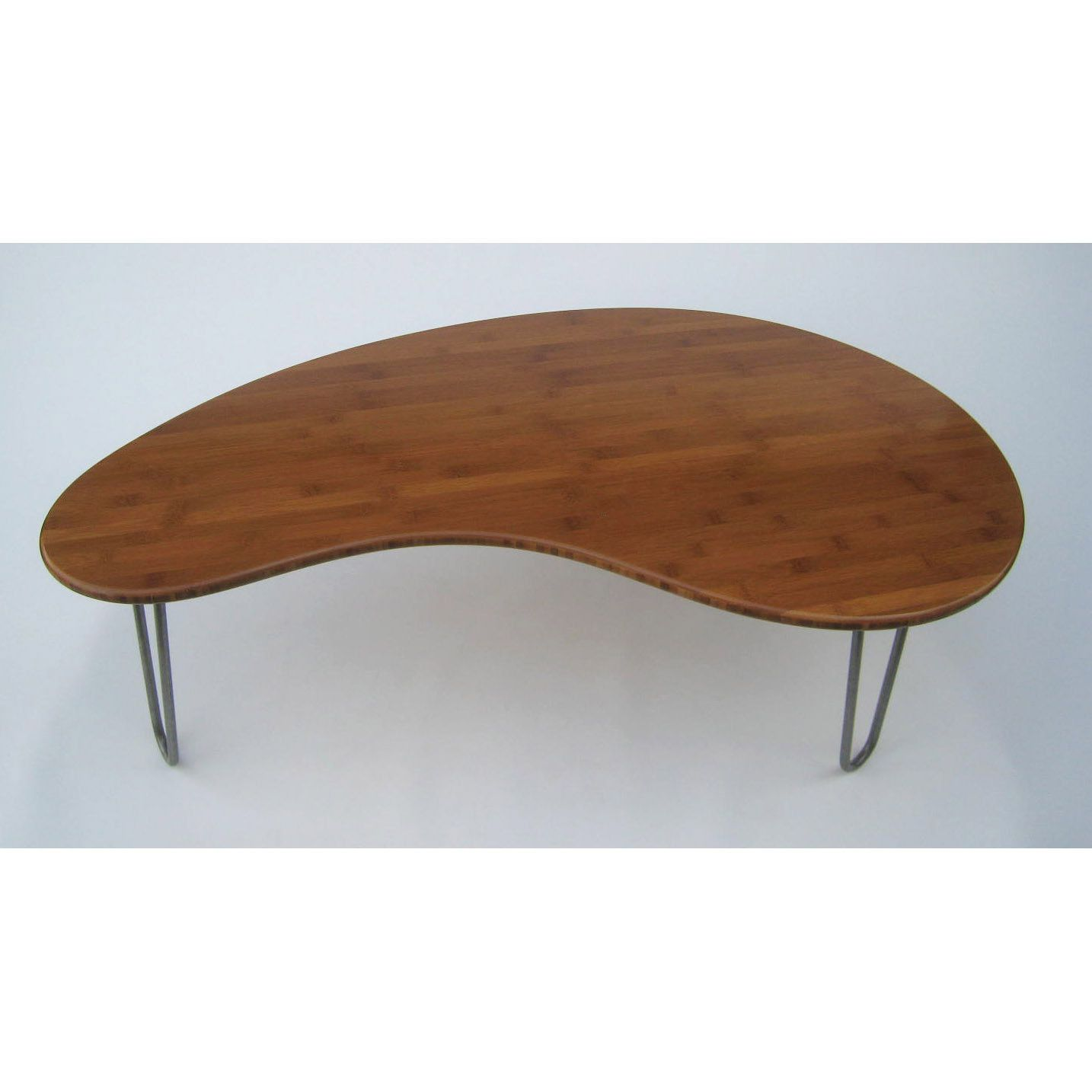 Mid Century Modern Coffee Table Caramelized Kidney Bean Shaped